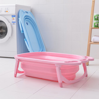 2019 Portable Baby Bathtub Foldable Plastic Newborns Swim Tubs Infants Body Washing Children Shower Eco friendly Kids Bath Tub