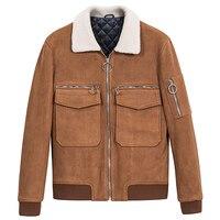 mens jackets and coats thicken warm brown pink short bomber jacket rib sleeve zipper men streetwear 3xl turn down collar clothes