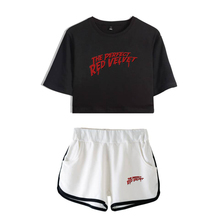 LUCKYFRIDAYF Kpop RED Velvet Summer Women Two Piece Set Shorts Pants And T-shirts Clothes Hot Sale Pop Print Sets