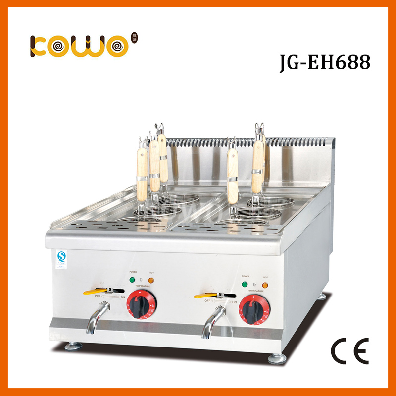 JG-EH688 commercial stainless steel 6 pot electric noodle cooker noodle machine pasta cooker machine for cooking equipment free shipping electric table type noodles cooking machine with ce pasta cooker