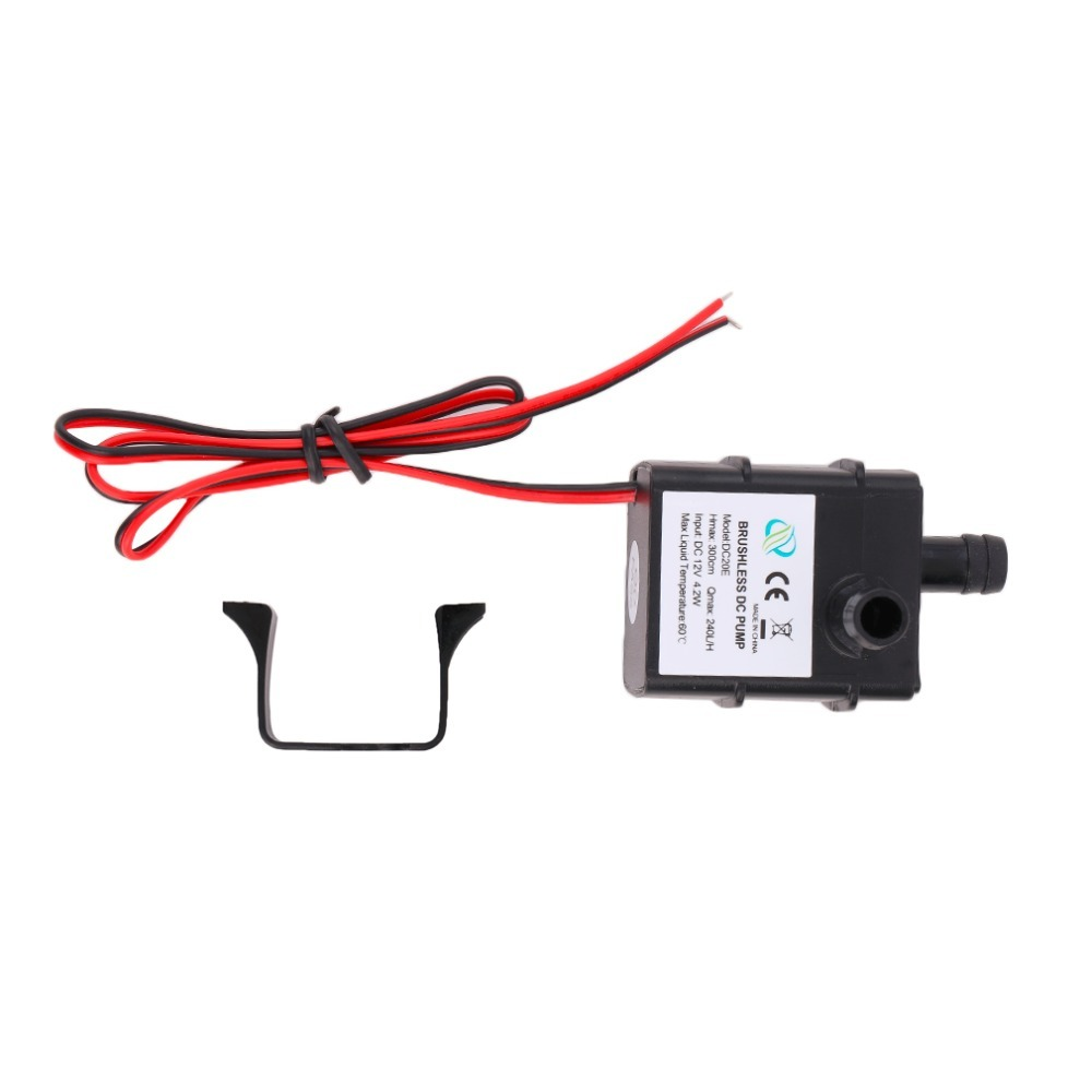 Brand New Genuine DC Water pump 240L//H 12V Mini Ultra Quiet Black Pump M6