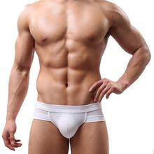 Mens Sexy Stripe Cotton Underwear shorts men underpants Soft Briefs 4O06