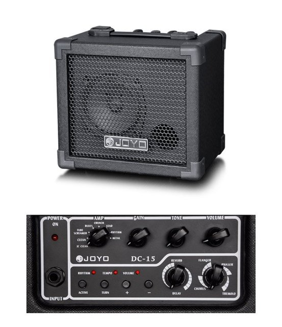 Cheap DC-15 15W Digital Guitar Amplifier,Roland Jazz Chorus,Wave-X C-Clean with effects pedal