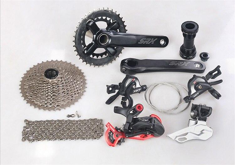 ENSAH CRX groupe de vélos Set 1X11 2X11 vitesse dérailleur avant + Support de dérailleur arrière 11-42/46 T volant de vélo