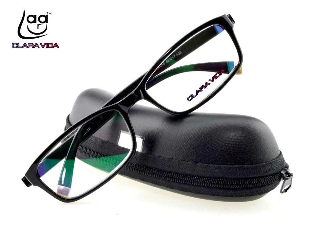 = CLARA VIDA = أعلى جودة TR90 شهم مضاد للأشعة فوق البنفسجية المطلي المقاوم للعاكس مع نظارات قراءة مربع +1 +1.5 +2 +2.5 +3 +3.5 +4