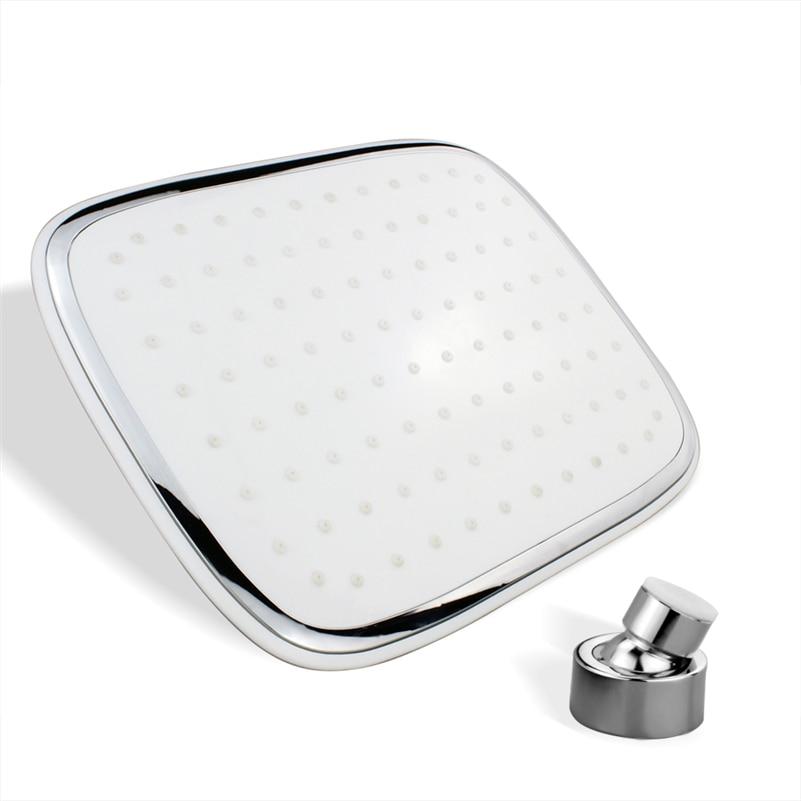Fashion White Square Chrome Plating  ABS Shower Head water Saving High Pressure hsh001001(w)