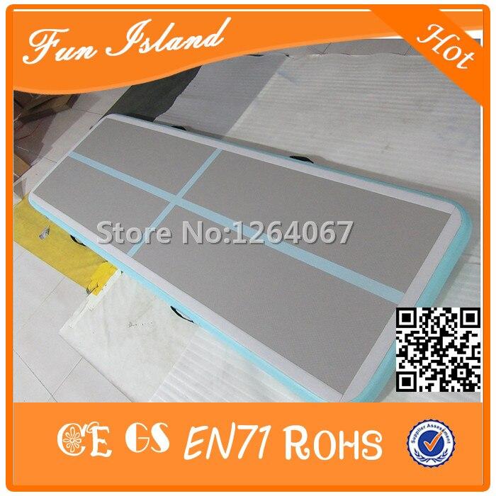 Livraison gratuite 3x1x0.2 m Mintgreen couleur Air Track, tapis de gymnastique gonflable à vendre une pompe électrique gratuite