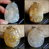 100% Real Natural Stone Hand Carved Animal Amulet Lucky Men & Women Pendant Necklace Fashion Agates Crystal Jewelry Beads 1PCS