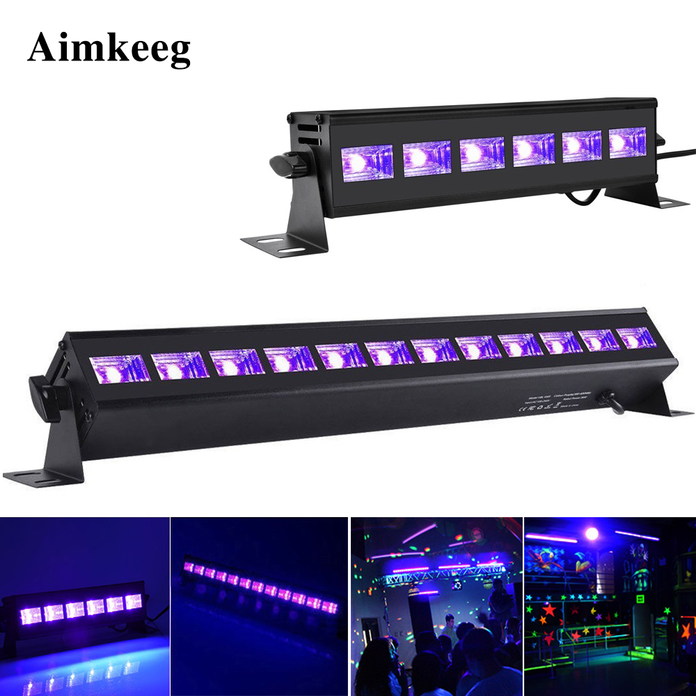 6LED 9LED 12LED Disco UV Black Lights DJ 36W Par Lamp UV Party Christmas Bar Light Laser Stage Light UV Wall Washer Spotlight