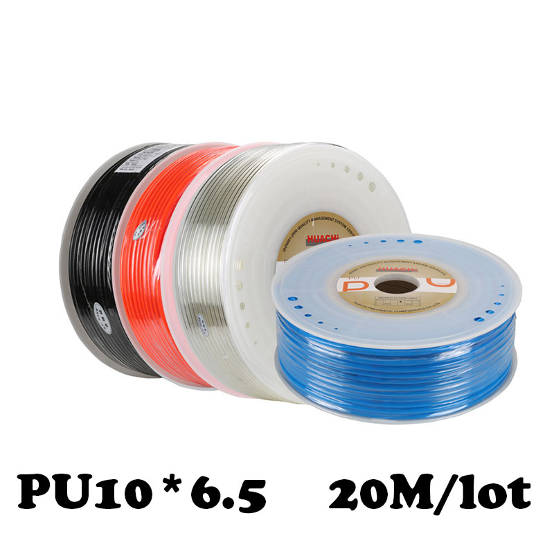 PU10*6.5  20M/lot Free shipping PU Pipe 10*6.5mm for air & water Pneumatic Air compressor inlet pipe Pu
