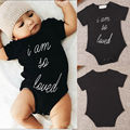 Children Boys Girls Kids New Arrival Clothing UK Newborn Baby Boys Letters Jumpsuit Bodysuit Shorts Clothing Outfit Set