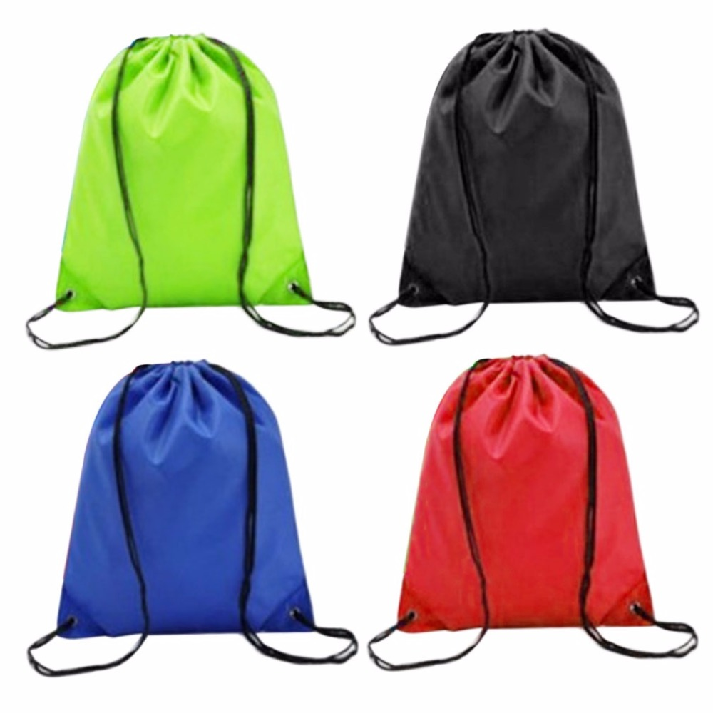 Ready Stock Cheap 41cmx33cm 4 Colors Waterproof Swimming Bag Drawstring Beach Bag Sport Gym Swim Dance  Backpack