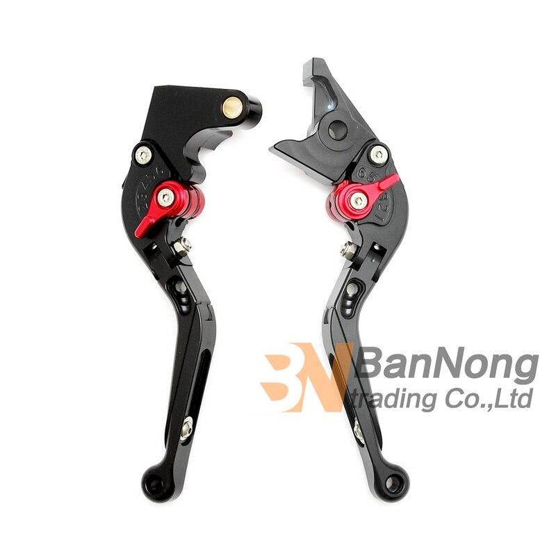 ФОТО motorcycle High-quality Modified CNC Aluminum Telescopic folding Brake Clutch Levers For Yamaha R1 02-03 R6 99-04 FZ1 01-05
