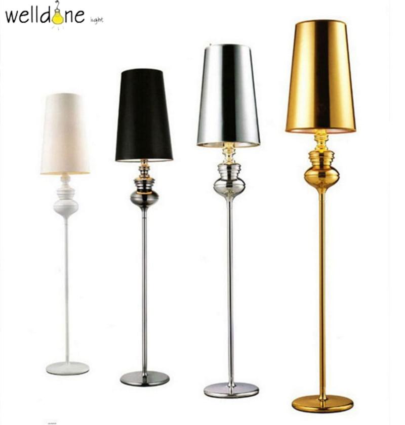 現代スペインガーディアンフロアランプ新古典派の寝室リビングルーム立ちランプファッション研究ホテルゴールド LED フロアランプ -