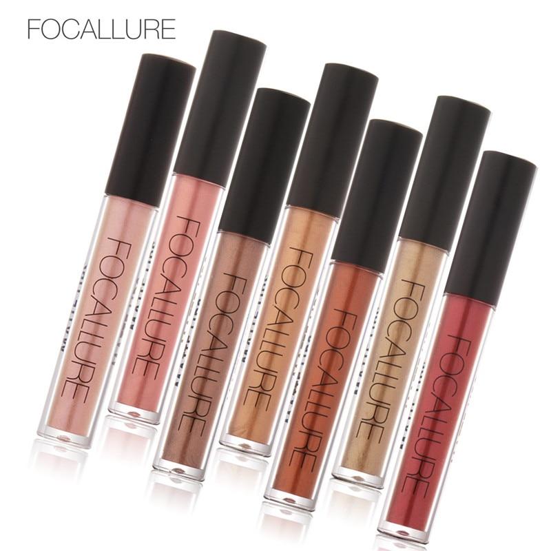 FOCALLURE Flüssigkeit Lipgloss Glitter Metallic Lipstick Nude Lipgloss Makeup Batom Matte Lippenstift Feuchtigkeitscreme