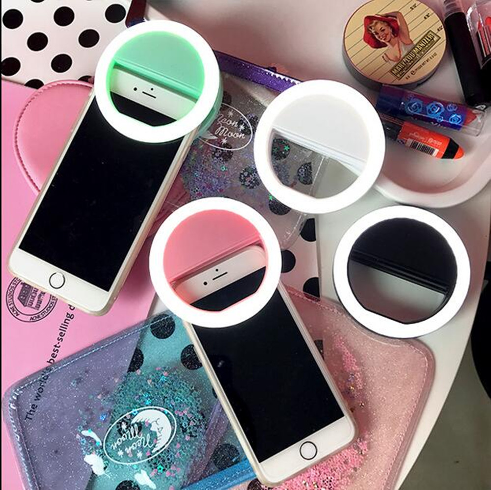 Selfie Ring Mirror Makeup Case For BQ BQS-4550 Richmond 4560 Golf 4570 Drive LED Light Flash UP Android Mobile Phone Cover