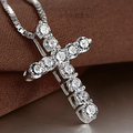 AGOOD Collier Femme New Fashion 925 sterling silver cross Necklaces & Pendants Collares for Women men Mujer Accessories Jewelry