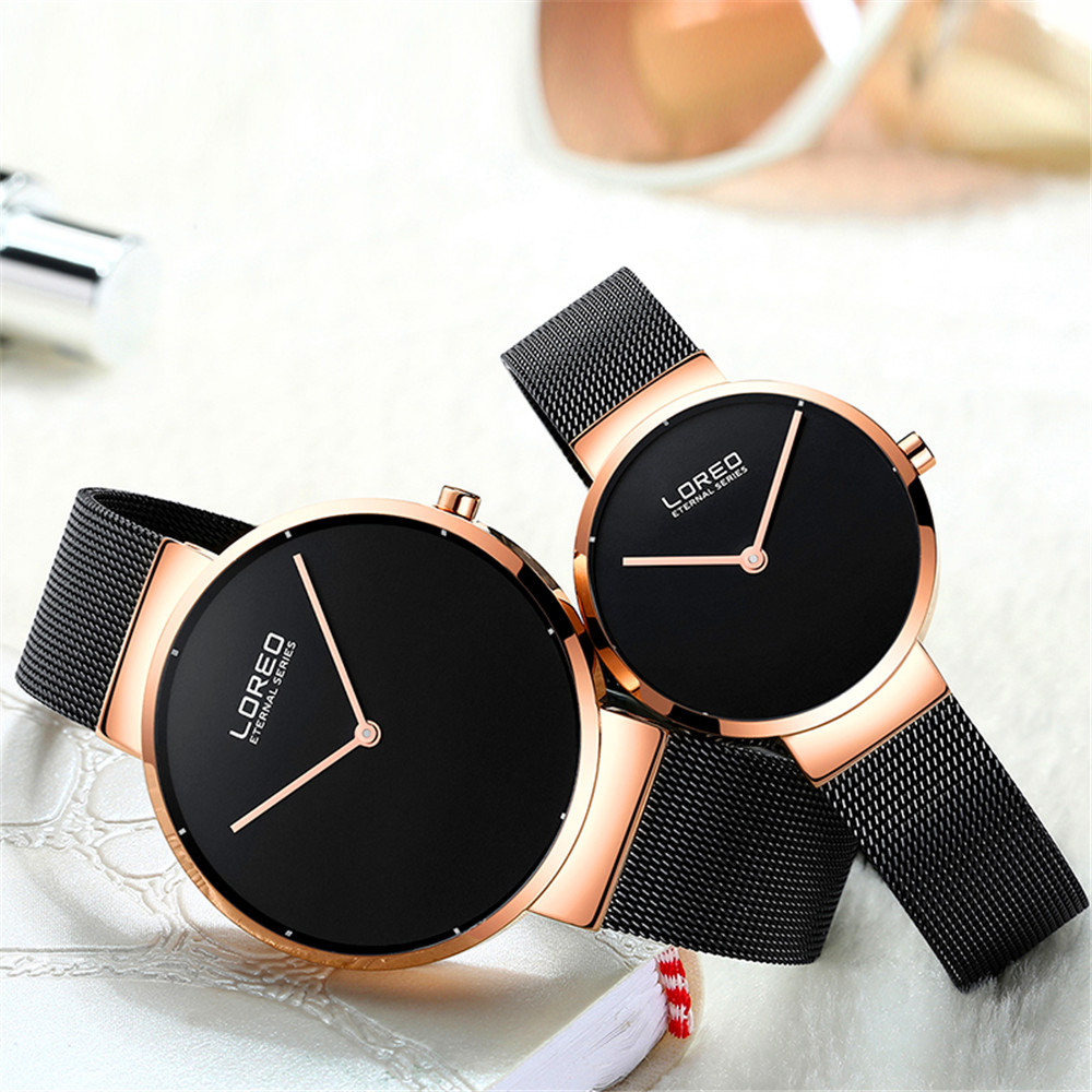 Watch Women LOREO Brand Elegant Simple Watches Fashion Ladies Quartz Watches Clock Male Casual Men Wristwatches Couple Clock