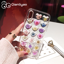 Qianliyao Handmade Natural Real Dried Flowers Phone Case For