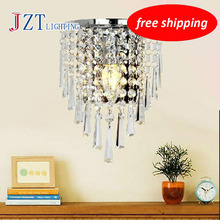 T Luxury Crystal Modern Wall Lamps American Style Aisle Porch Indoor Light With 3W E14 LED Bulbs For Corridor Free Shipping