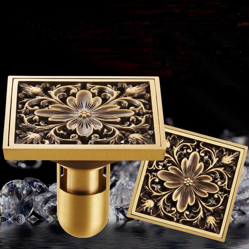Bathroom/Balcony/Toilet/kitchen Sink Floor Drain Deodorant Floor Drain, Antique Copper Shower