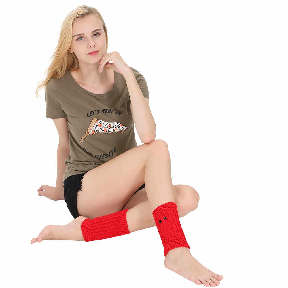 1 paar Frauen Häkeln Boot Bündchen Stricken Kurze Legging Topper Boot Ankle Gamaschen Beinlinge Rote Kompression Damen Bein Wärmer