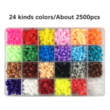 24 Colors about 2500cs 5mm Hama beads Education PUPUKOU Beads 100% Quality Guarantee perler Fuse diy toy
