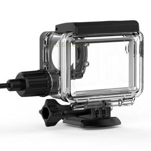 Image 4 - חדש מקורי SJCAM אופנוע עמיד למים מקרה עבור SJCAM SJ8 פרו/בתוספת/אוויר טעינה דיור פעולה מצלמה עבור SJ8 מטען מקרה