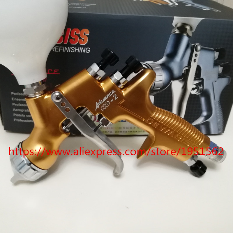 SPRAY GUN HVLP HD-2   Spray Gun Gravity Feed for all Auto Paint ,Topcoat and Touch-Up with 600cc Plastic Pai