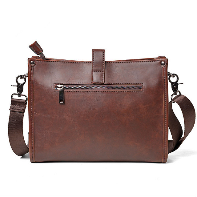 461aac5aac36 US $25.99 |Leather Briefcase Computer Bag Casual Business Leather Mens  Messenger Bag Luxury Handbags Designer Vintage Men's Shoulder Bag-in  Crossbody ...