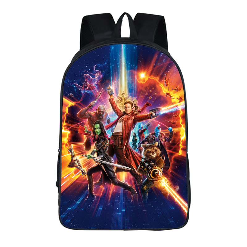 16 Inch Anime Guardians of the Galaxy Backpack For Teenagers Boys Girls School Bags Travel Bag Children School Backpacks Gift anime one piece luffe skull marine backpack messenger luminous book bag school travel bags anime gift