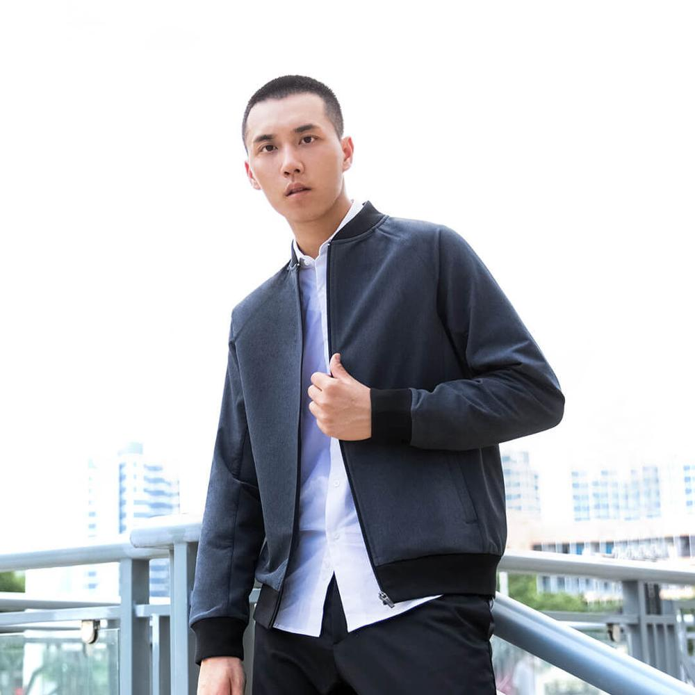 New Youpin Man Fashion Business Casual Jacket Baseball Collar Leisure Coat Solid Color Spring Autumn For Male