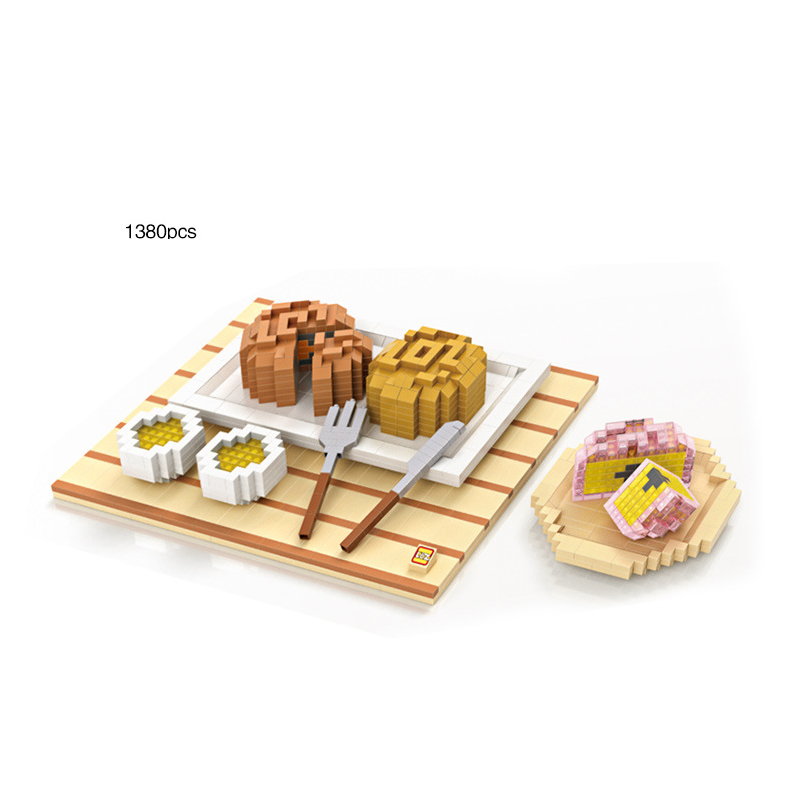 LOZ creator mini diamond building block delicious food Chinese mid autumn moon cake Festival set meal nanoblock model brick toys цена