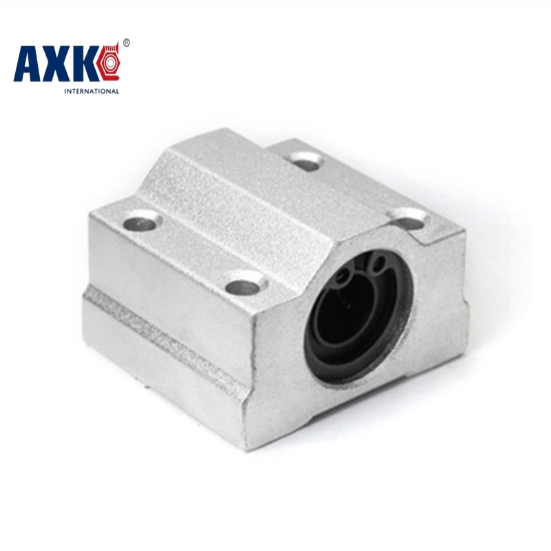 AXK 4pcs SC8UU SC10UU SC12UU SC16UU Slide Unit Block Bearing Steel Linear Motion Ball Bearing Bushing Shaft CNC  3D Printer axk sc8uu scs8uu slide unit block bearing steel linear motion ball bearing slide bushing shaft cnc router diy 3d printer parts