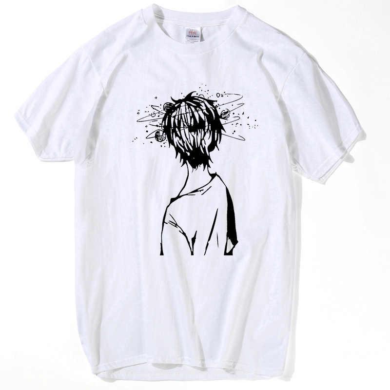 HanHent örgü kafa T shirt inek baskı % 100% pamuklu tişört komik inek desen T gömlek Casual beyaz o-boyun erkekler Geek ofis Tee