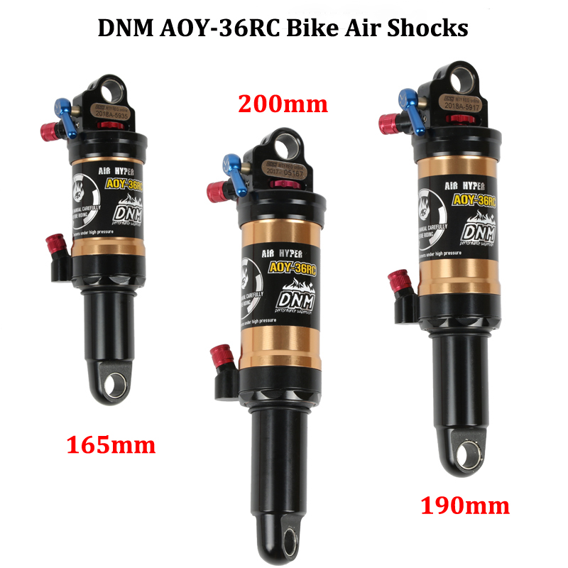 DNM AOY-36RC AM XC vélo amortisseurs arrière VTT choc pneumatique vtt choc de verrouillage 165mm 190mm 200mm