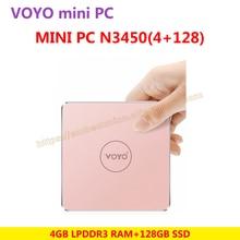 VOYO VMac Mini PC V1 Intel Apollo N3450 License Windows 10 Pocket PC 4GB DDR3L RAM+128GB SSD 3*USB3.0 4K HD output