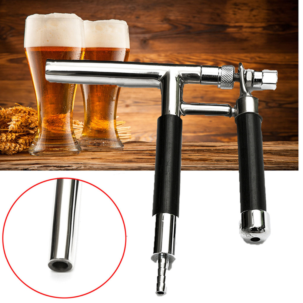 ФОТО DIY Tool Stainless Steel Premium Beer Gun Tool For 8mm ID Beer Line Home Brew Kit