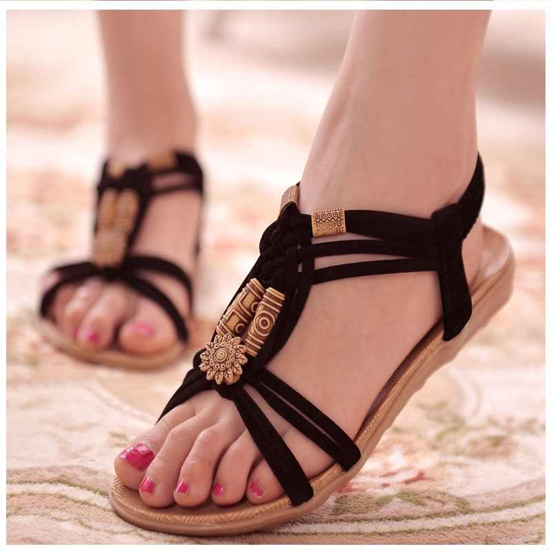7da9305598cb99 ... Women Sandals shoes Woman Gladiators Sandals summer Ladies sandals Soft  Footwear Large Size Flip flops fashion ...