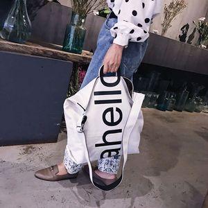 Image 2 - Grand sac à main en toile pour femmes, fourre tout, Portable, grande capacité, tendance pour femmes, nouvelle collection 2018