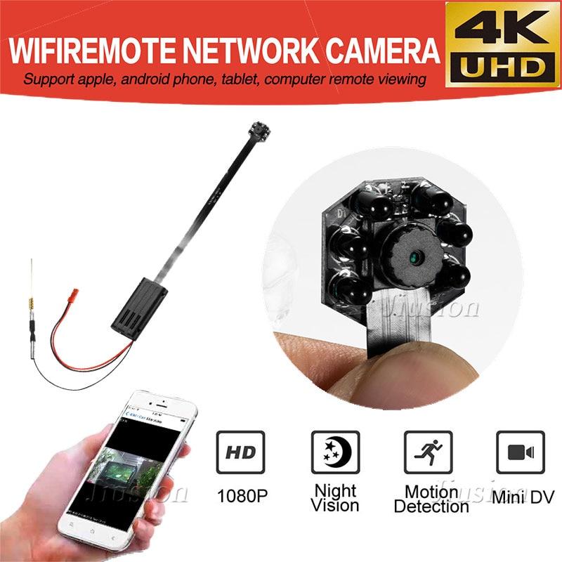 4 k UHD Mini WIFI Della Macchina Fotografica DIY Modulo Micro Cam con Visione Notturna di IR di Rilevazione di movimento In Tempo Reale Video Audio Recorder videocamera Wireless