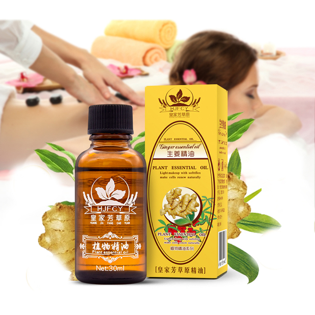HOT 30 ml naturel phytothérapie huiles essentielles Anti-âge Drainage lymphatique huile de gingembre huiles de Massage du corps livraison gratuite TSLM2