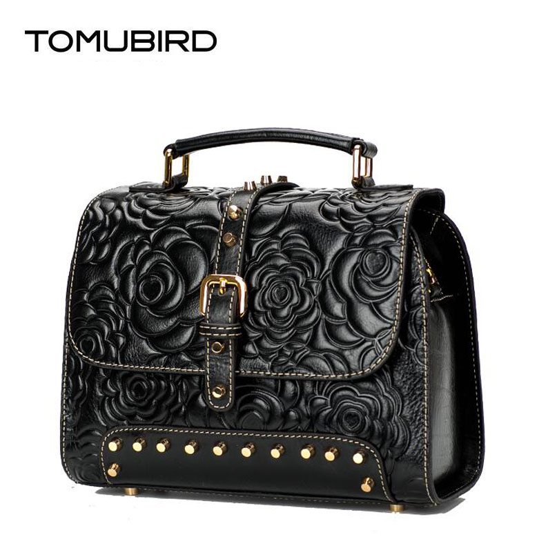 TOMUBIRD 2017 new superior leather designer famous brand women bag Rose embossed luxury genuine leather handbags shoulder bag tomubird new original hand embossed superior leather designer bag famous brand women bags genuine leather handbags shoulder