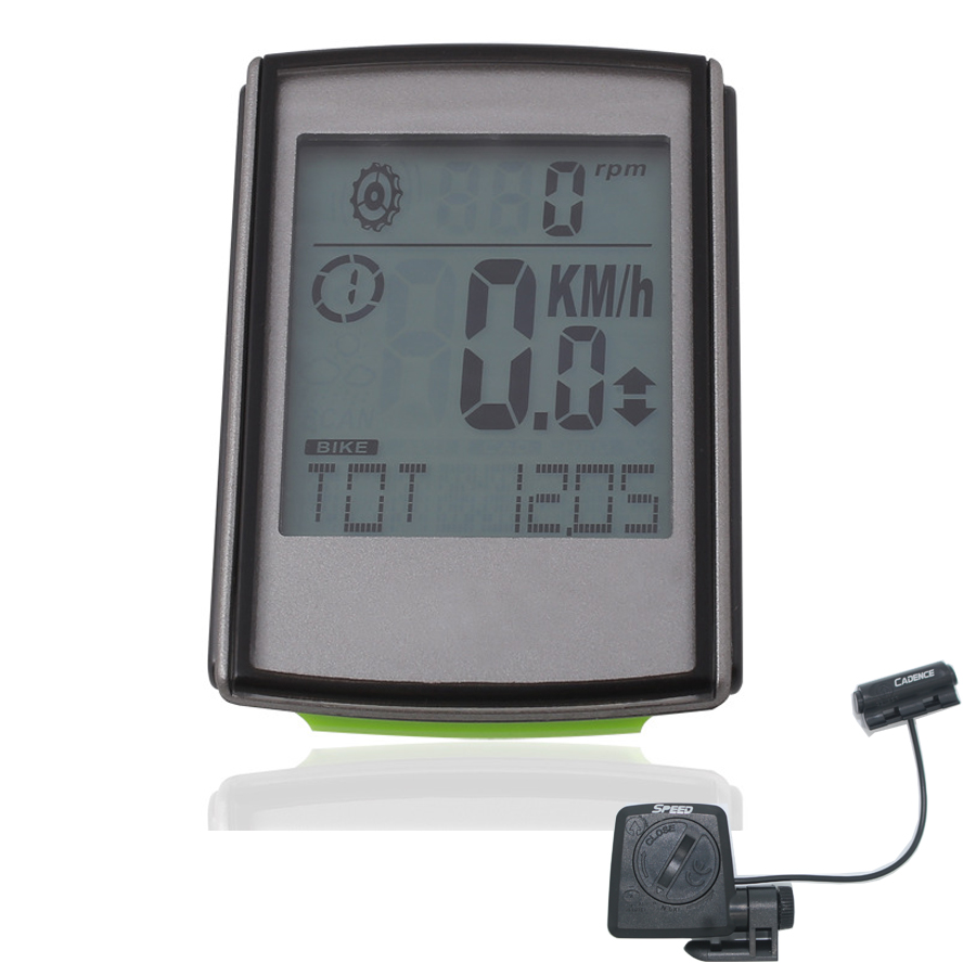 XQJ Cycling <font><b>Computer</b></font> With Cadence Monitor Wireless Odometer Speedometer LCD Display Bicycle Bike Speedometer backlight for Night