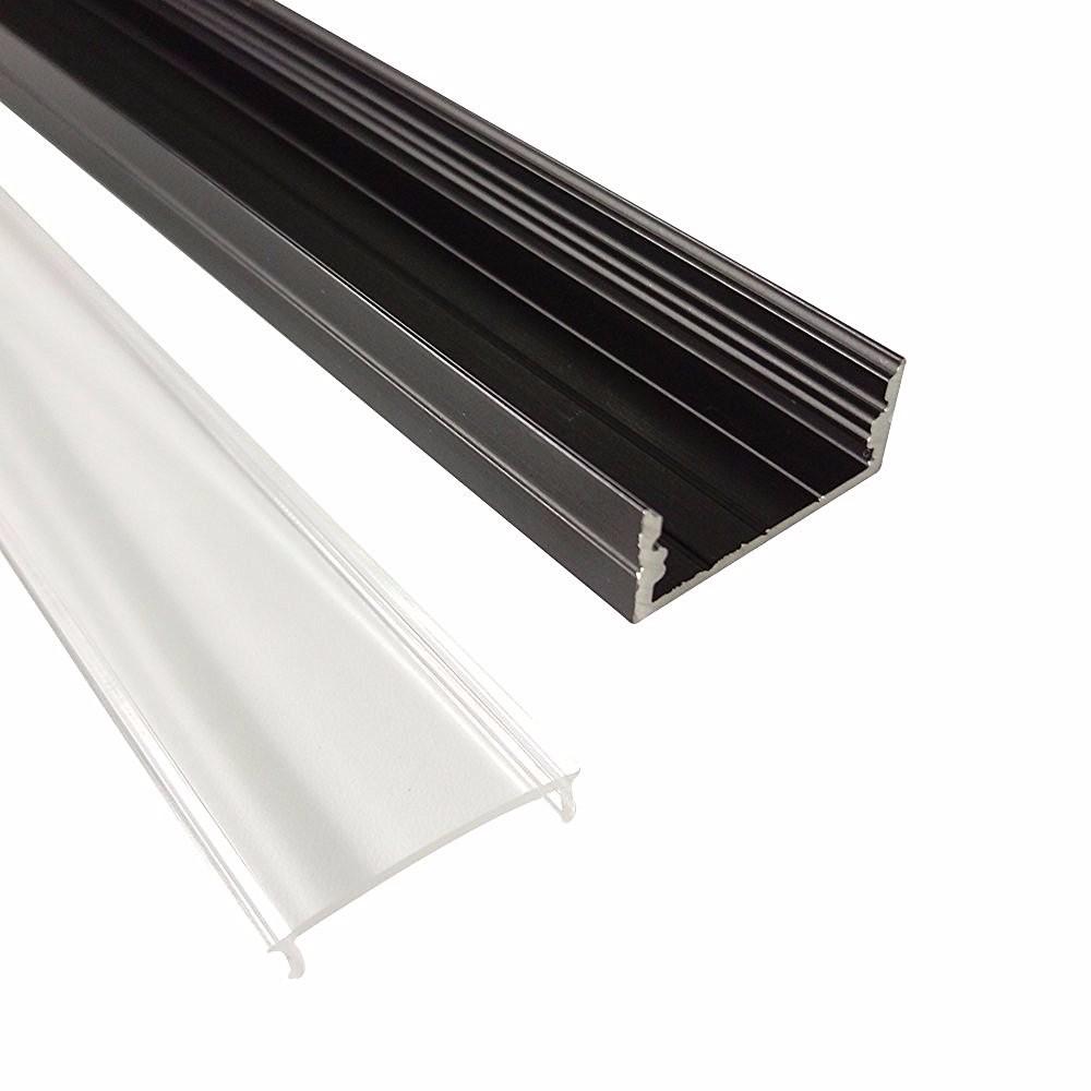 UnvarySam Schwarz Aluminium profil 1 Mt 10 stücke einbau aluminium ...