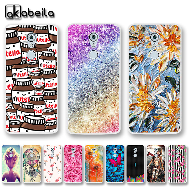low priced 66e80 23365 US $1.26 20% OFF|AKABEILA Soft TPU Silicone Phone Cases For ZTE Axon 7 Mini  5.2 INCH Covers Silicone Nutella Flamingo Tetris Shell Skin Bags-in Fitted  ...