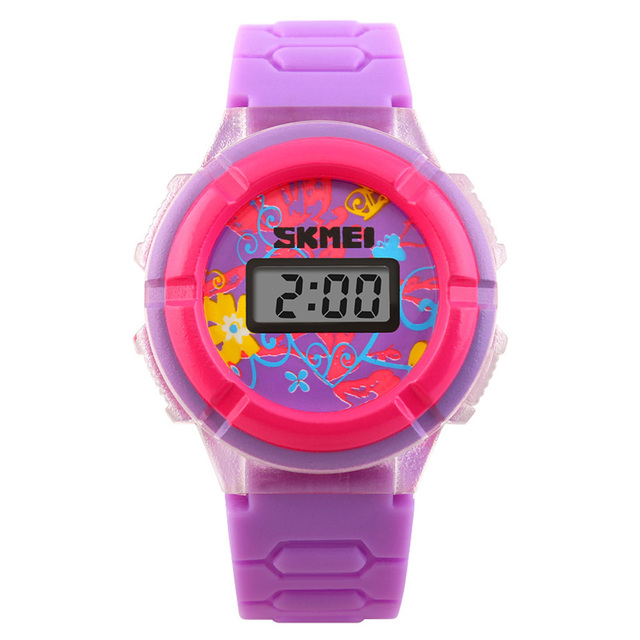 SKMEI Cool Originality LED Cute Watch Colorful Digital Children Wristwatch Time