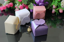 High Quality 6*6*6cm Pearly Paper Heart Candy Box, Many Colors For Wedding And Party
