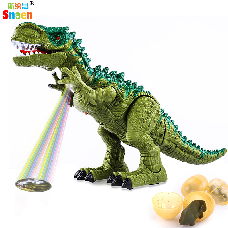 Snaen Electronic Walking Dinosaur Toys for Kids Boys Girls Jurassic Tyrannosaurus T Rex Model with Sounds