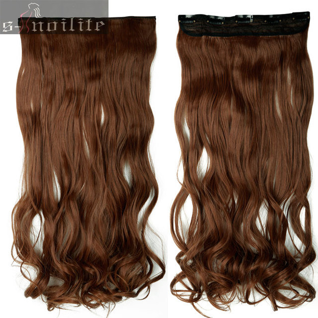 18 28 150g 30 Dark Auburn Curly Hair Extension 34 Full Head Clip